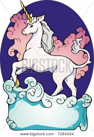 Unicorn bookplate