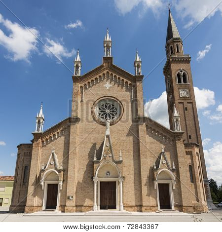 Church In The Gothic Revival Style, Veneto Italy