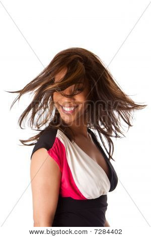 African Business Woman With Swirling Hair