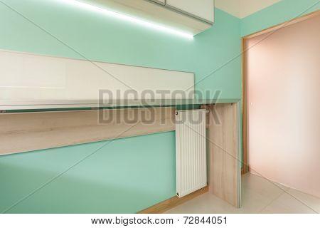 Modern Kitchen With Wooden Worktop
