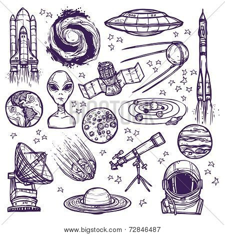 Space sketch set
