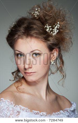Beautiful Woman With Haircut