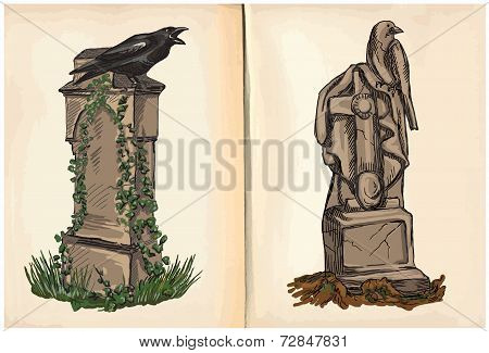 Graves - Hand Drawings, Vector