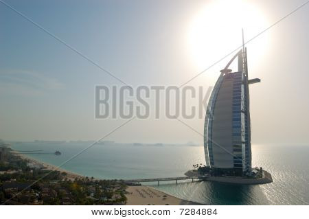 "Dubai, The World's First Seven Stars Luxury Hotel Burj Al Arab ""tower Of The Arabs"""