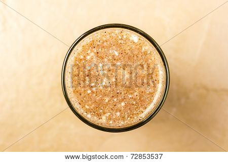A glass of red millet / finger millet porridge mixed with curd ~ a delicacy in South India