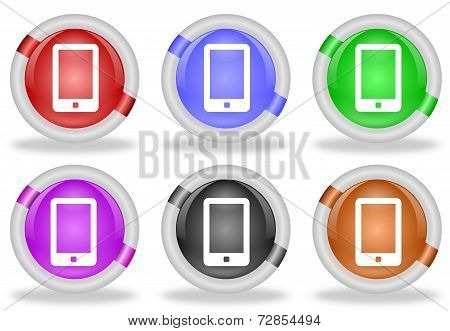 Touchscreen Smartphone Web Icon Button