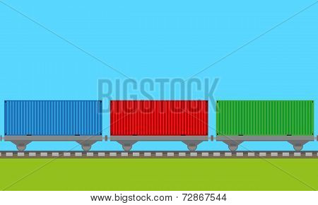 Train transport background vector