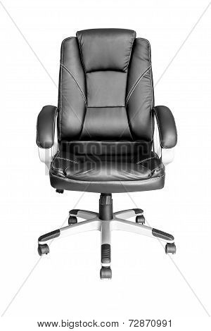 Black Leather Managers Office Swivel Chair