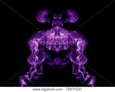 Artistic Purple Smoke On Black Background