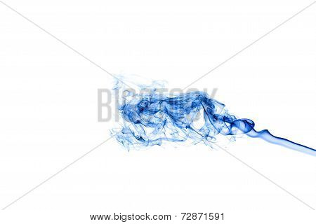 Blue Smoke Isolated On White