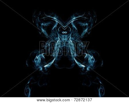 Artistic Blue Smoke On Black Background