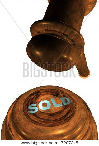 Gavel with SOLD
