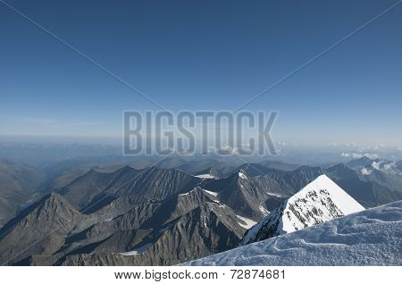 Blue sky mountain Altai