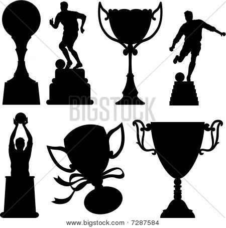 Sport Trophies Silhouettes