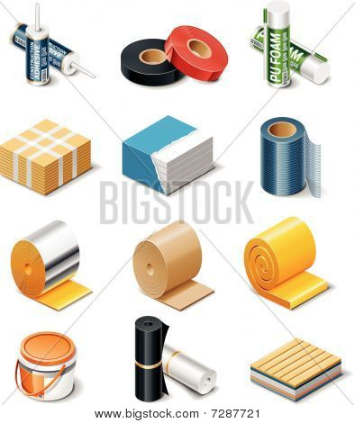Vector building products icons.