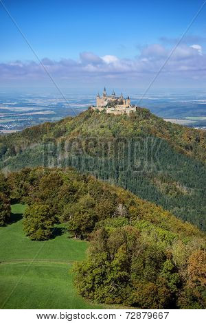 Hohenzollern castle in the beginning of autumn