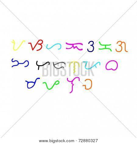 Colorful Alibata Script