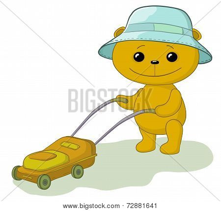 Teddy bear lawnmower
