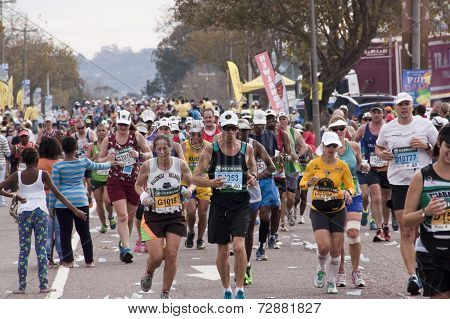 Large Group Of Runners At Comrades Ultra Marathon