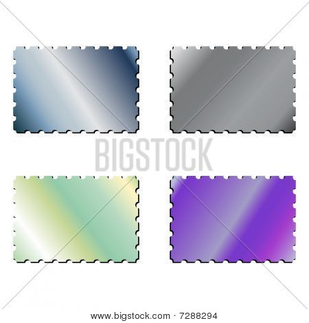 Metallic Postage Stamps