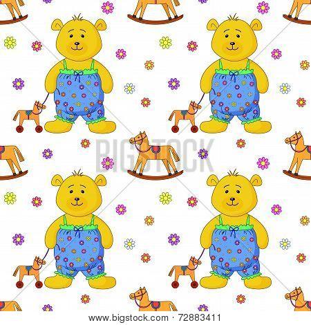 Teddy bear with a toy horsy