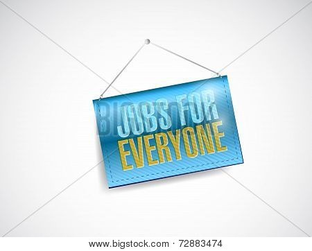 Jobs For Everyone Banner Illustration Design