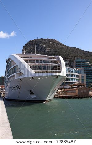 Cruiseship Moored At Gibraltar