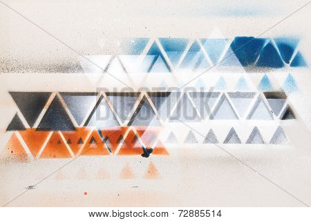 Abstract Background Spray Painting Style