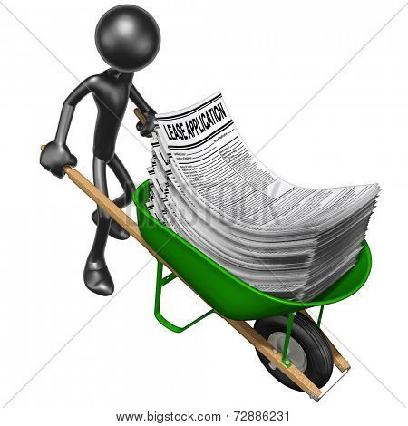Wheelbarrow Full Of Lease Applications