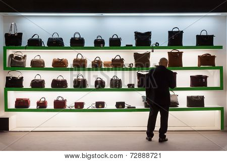Bags On Display At Homi, Home International Show In Milan, Italy