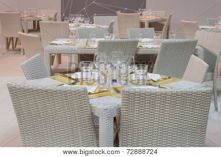 Restaurant Table At Homi, Home International Show In Milan, Italy