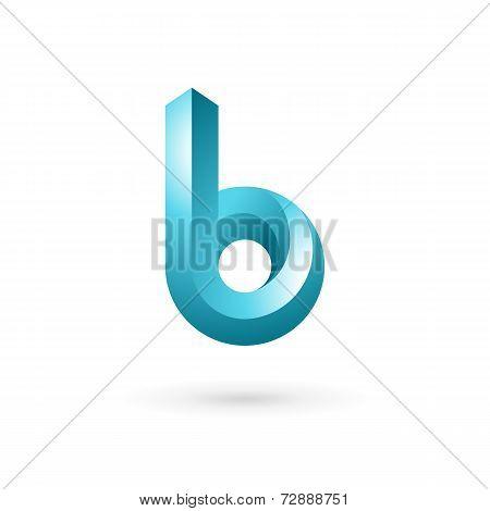 Letter B logo icon design template elements. Vector color sign.