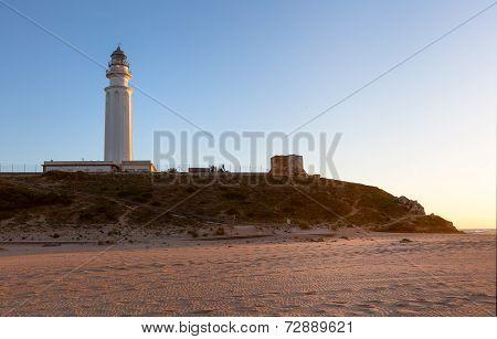 Beach At Lighthouse At Cape Trafalgar