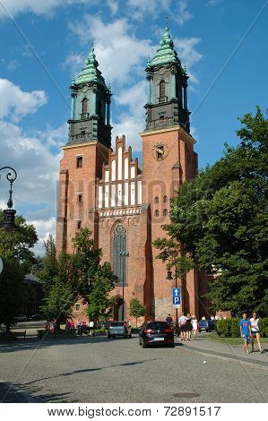 Saint Peter And Paul Basilica In Poznan, Poland