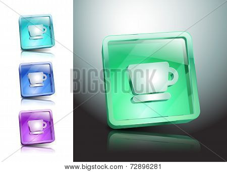 Cup Icon Vector Coffee Button Drink