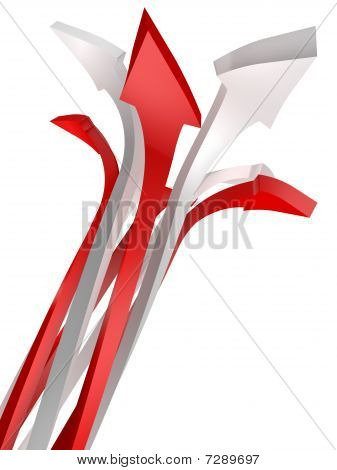 Conceptual Image Of Arrow Isolated On White