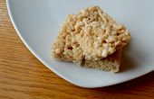 picture of crispy rice  - A sugary snack of a marshmallow crispy rice treat