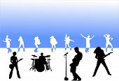 picture of rock star  - rock party design - JPG