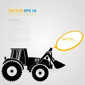 picture of skid-steer  - Vector isolated tractor icons - JPG