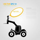 stock photo of skid-steer  - Vector isolated tractor icons - JPG