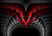 image of gamma  - Intriguing abstract techno background with elements of metal - JPG