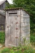 image of outhouse  - And old countryside outhouse - JPG