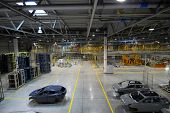 foto of transmission lines  - production line on which the products Car - JPG