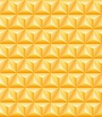 foto of triangular pyramids  - Abstract pattern of gold precious tripartite pyramids - JPG