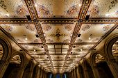 stock photo of underpass  - Photo of the tiled ceiling of the Bethesda Terrace Arcade Underpass found in the center of New York City - JPG