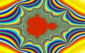 picture of mandelbrot  - Digital visualization of a colourful fractal called Mandelbrot set - JPG