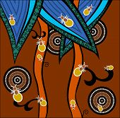 stock photo of aborigines  - A illustration based on aboriginal style of dot painting depicting ants - JPG