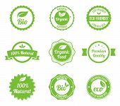 pic of high-quality  - Eco Vintage Labels Bio template set - JPG