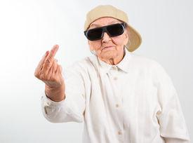 foto of grandma  - Funny grandma - JPG