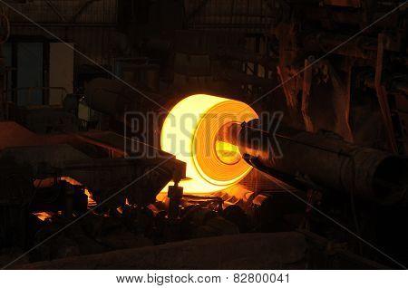 Rolling Steel in Factory